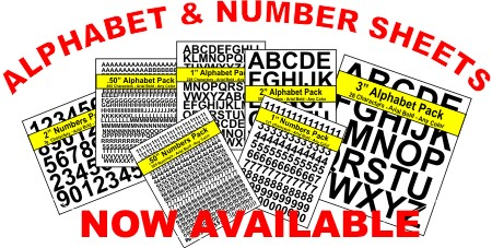 Alphabet & Number Sheets