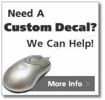 need help designing a custom decal, we can help